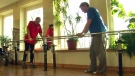 A Bulgarian man who was paralyzed takes his first steps after a stem cell transplant surgery.
