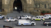 Cops on Parliament Hill following reports of a shooting, Oct. 22, 2014.