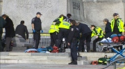 Paramedics on scene following shooting at War Memorial in Ottawa Wednesday, Oct. 22, 2014.
