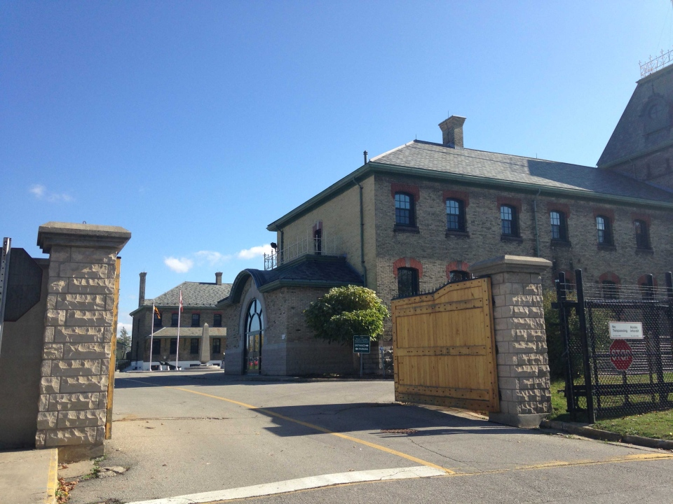 The gates at Wolseley Barracks in London, Ont. are seen on Wednesday, Oct. 22, 2014. (Chuck Dickson / CTV London)