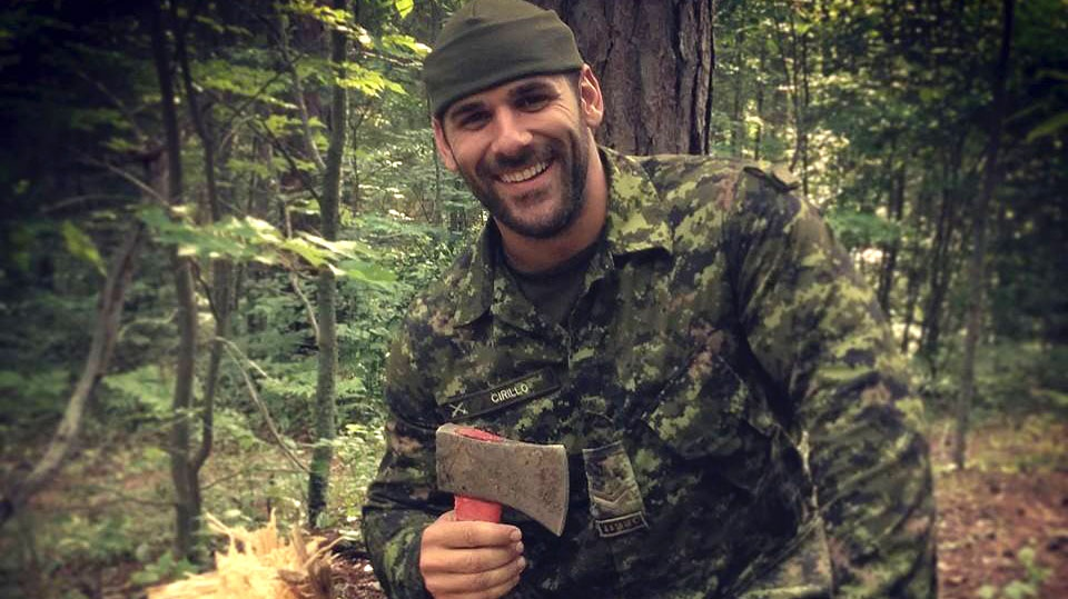 Nathan Cirillo, soldier killed at the National War Memorial in Ottawa, in a photo seen on Facebook from Aug. 16