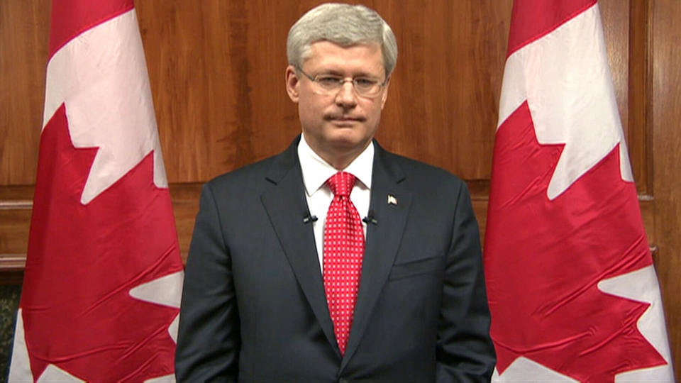 Harper addresses the nation