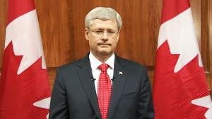 Harper adresses nation