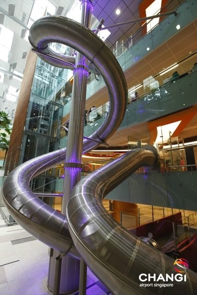 Four-storey slide at airport