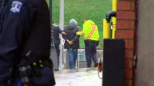 Police in Halifax have made an arrest after reports of a man carrying what appeared to be a gun in the downtown core, Thursday, Oct. 23, 2014.