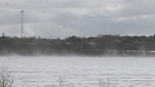 There are reports that about 20 Ice Fisherman are stranded as ice broke up on Lake Simcoe, Friday, March 9, 2012.