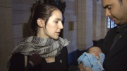NDP MP Lysane Blanchette-Lamothe, left, says she was breastfeeding her two-month-old son as shots went off in Parliament Hill.