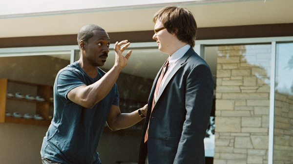 Eddie Murphy, left, and Clark Duke are shown in a scene from Paramount's 'A Thousand Words.'