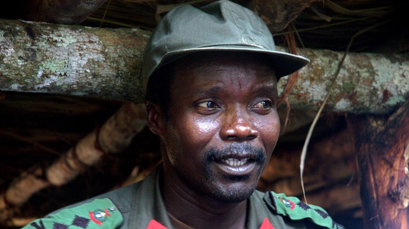 Joseph Kony, leader of the Lord's Resistance Army, is seen during a meeting with a delegation of 160 officials and lawmakers from northern Uganda and representatives of non-governmental organizations in Congo near the Sudan border, July 31, 2006. (AP)