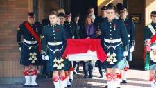 Cpl. Nathan Cirillo's procession departs Ottawa