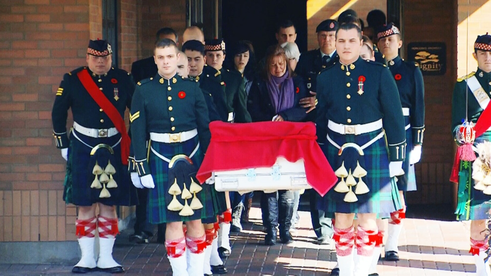 Cpl. Nathan Cirillo's procession departs Ottawa Friday, Oct. 24, 2014.