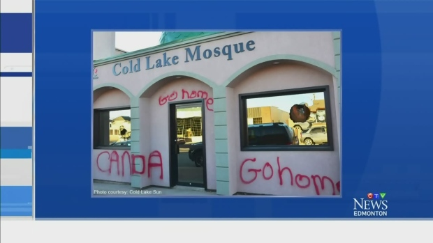 CTV Edmonton: Cold Lake mosque vandalized