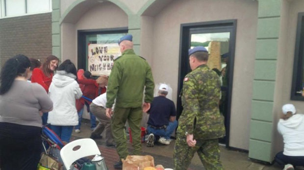 Residents help clean up Cold Lake mosque