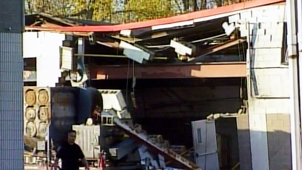 Five people have been injured, one critically, after an explosion at Veolia ES Canada Industrial Services plant in Sarnia, Ont. on Saturday, Oct. 25, 2014.