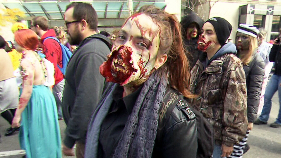 Scary Scene Downtown Toronto Overtaken By Zombies Ctv