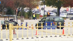 One man is dead another is in hospital with life-threatening injuries after a double stabbing in the parking lot of Canada's Wonderland on Saturday, Oct. 26, 2014.