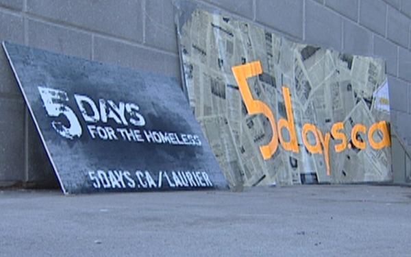 A small group of Wilfrid Laurier University students will participate in a national campaing called Five Days for The Homeless.