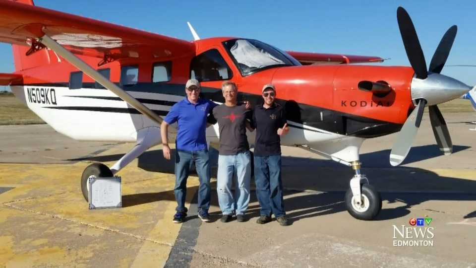 Two Edmonton pilots were among a team that helped Dr. Alan Eustace set a new record for highest freefall.
