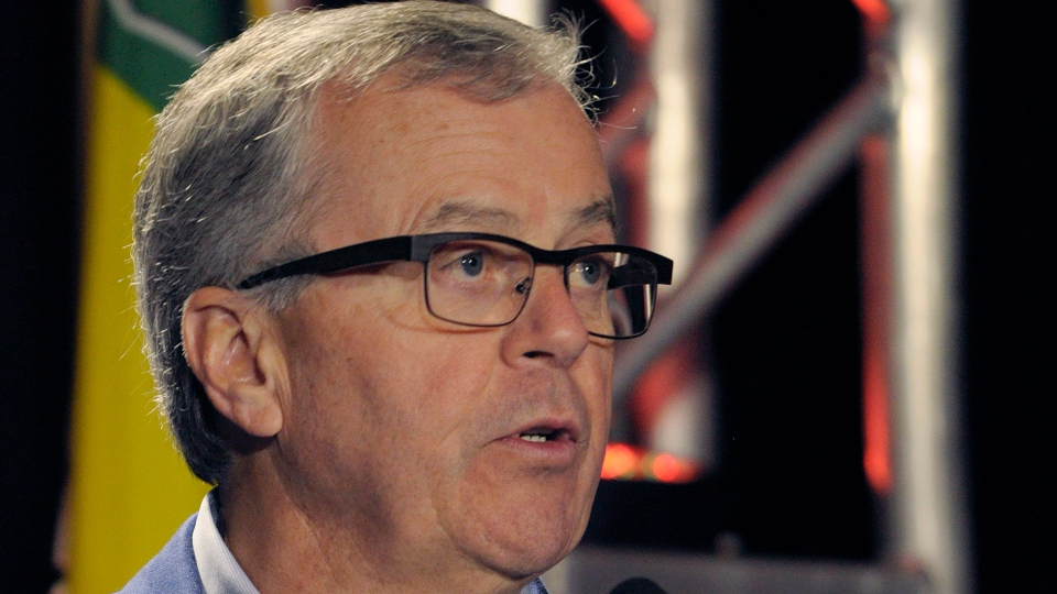 SaskPower CEO Robert Watson speaks at the official opening of a carbon capture and storage facility at the Boundary Dam Power Station in Estevan, Sask. on Thursday, October 2, 2014. (THE CANADIAN PRESS/Michael Bell)