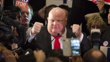 Rob Ford speaks after winning council seat