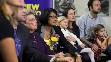 Olivia Chow watches the Toronto election results