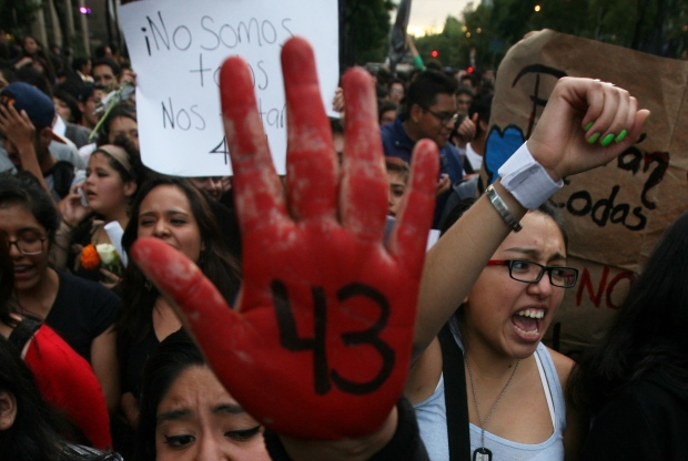 Protest over missing Mexico students
