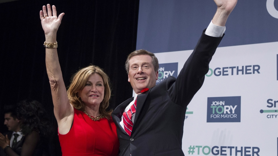 Newly-elected Mayor John Tory