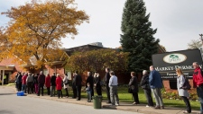 People line up to pay respect to Nathan Cirillo