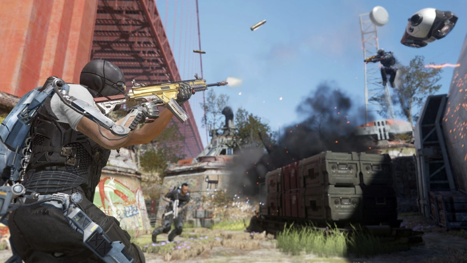 A scene from 'Call of Duty: Advanced Warfare,' the 2014 installment of Activision Blizzard's wildly successful shoot-'em-up franchise. (AP Photo / Activision)