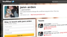 Canadian singer Jann Arden took to Twitter after being booted off a VIA Rail train heading to Ottawa Sunday, March 11, 2012.