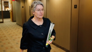 Sheila Block, lawyer for Lori Douglas, an associate chief justice of Manitoba, in Winnipeg, on October 27, 2014. (THE CANADIAN PRESS / John Woods)