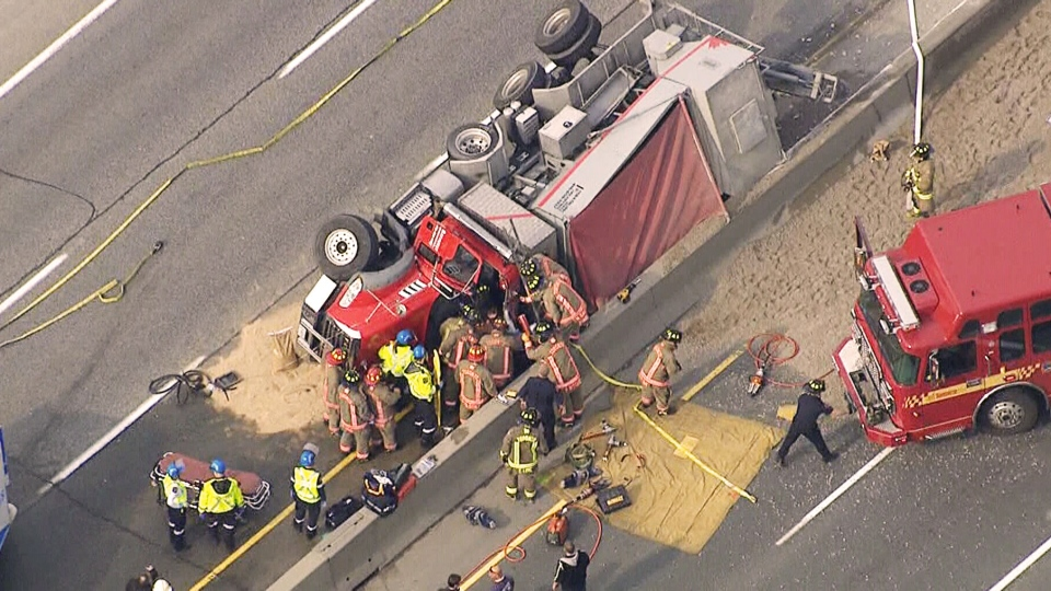 Dvp Closure Gallery: DVP Reopened After Truck Rollover Causes Traffic Chaos