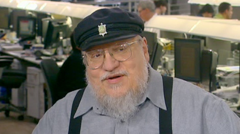 Author George R.R. Martin is seen speaking to Canada AM.