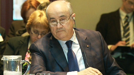 Associate defence minister Julian Fantino speaks at a House of Commons committee on the F-35 stealth fighter jet program on Tuesday, March 13, 2012.