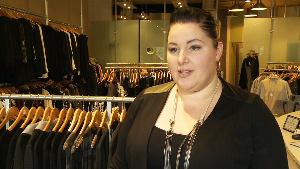 Jamie Newransky, manager of a women's clothing store that sells apparel in sizes ranging from 12 to 24, speaks to CTV Winnipeg.