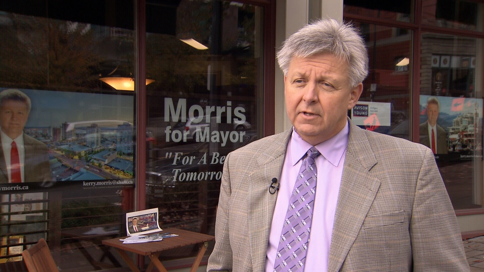 City of North Vancouver mayoral candidate Kerry Morris has apologized for using a homophobic slur in a 2009 email. Oct. 29, 2014. (CTV)