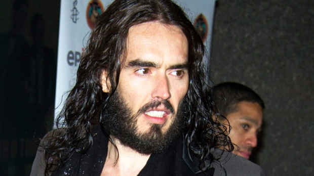 Russell Brand arrives to Amnesty International's 'Secret Policeman's Ball' in New York, Sunday, March 4, 2012. (AP / Charles Sykes)