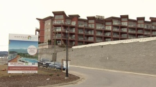 A West Kelowna condominium development that is the subject of a foreclosure sale is shown on March 14, 2012. (CTV)