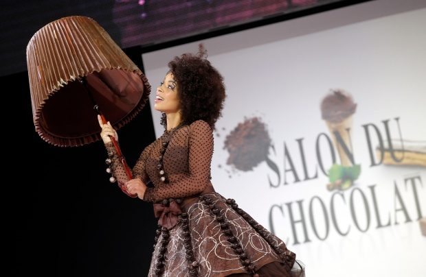 For its 20th Anniversary, the Salon du Chocolat will be presenting a fabulous retrospective of the 150 best designs that will be displayed in a dedicated exhibition, as well as an exclusive &#39;special anniversary collection&#39;. </b> (AP / Christophe Ena)