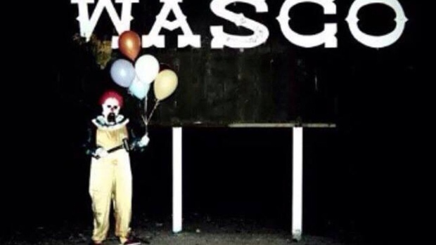 Wasco scary clown