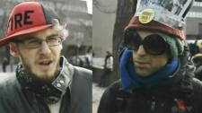 John Manicom and Dan Parker were among the demonstrators who felt it important to participate in the anti-police brutality mark.