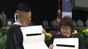 CTV Kitchener: Mother & Son graduate