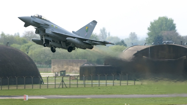 Sonic Boom As UK Fighter Jets Escorted Plane Approaching London