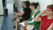 About 150 women make up the Montreal Women's Squash League (March 15, 2012)