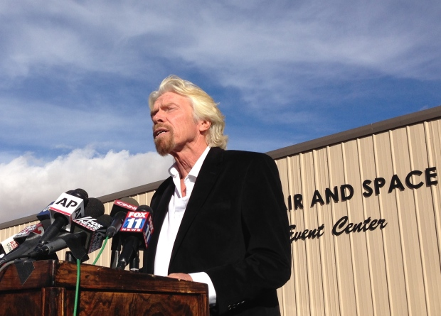 Richard Branson after SpaceShipTwo crash