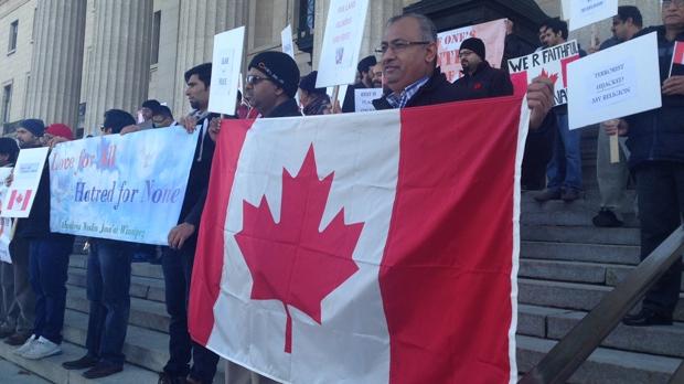 Muslims rally at Legislative Building