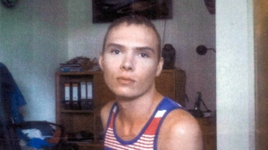 Luka Rocco Magnotta is pictured in Berlin in a court photo. (THE CANADIAN PRESS)
