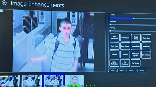 The software can also use video to match a suspect to the database of images.