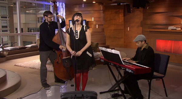 Vancouver jazz vocalist Andrea Superstein performs. March 16, 2012. (CTV)