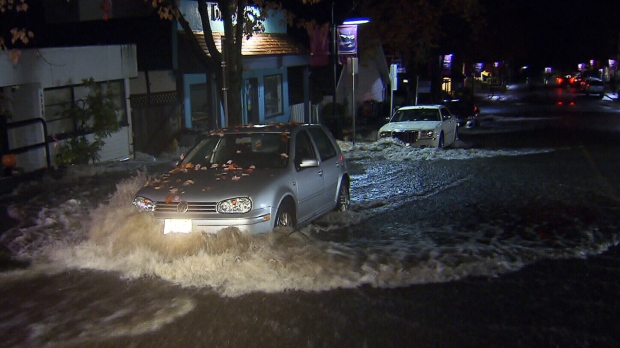 A massive clean-up is underway on the North Shore after more than 80 millimetres of rain pounded the area overnight, causing creeks to overflow and streets to flood. Nov. 4, 2014 (CTV)
